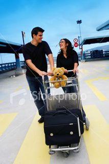 Couple going on honeymoon